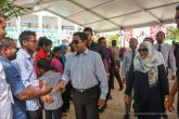 "H.E President Yameen and First Lady, Fathmath Ibrahim visits ""Hithaanee Ufaa"" in Hulhumalé organized by Saqadat Foundation."